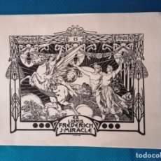 Arte: EXLIBRIS FREDERICH J. MIRACLE. Lote 275790178