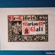 Arte: EXLIBRIS MARIAN M. GALÍ (AVELLANEDA). Lote 275790948
