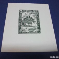 Arte: EX LIBRIS DE LUIS ENRIQUEZ DE NAVARRA - CASTILLO DE ALMANSA ALBACETE - EXLIBRIS. Lote 276019508