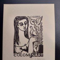Arte: MARIA JOSEFA COLOM EX-LIBRIS PARA SI MISMA 21 X 15 CM 1960´S. Lote 276425933