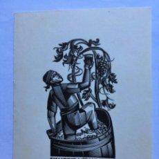 Arte: EX-LIBRIS EXLIBRIS ANATOLI KALASHNIKOV, 1981. VINO PISADO UVA. Lote 286335238