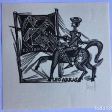 Arte: EX-LIBRIS EXLIBRIS NORBERT OTT, 1967. DON QUIJOTE MOLINO DE VIENTO. Lote 286336458