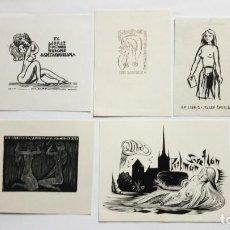 Arte: LOTE DE 5 EX-LIBRIS EXLIBRIS. DESNUDO FEMENINO. Lote 286939513
