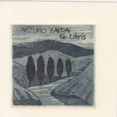Arte: EX-LIBRIS DE CONCHA IBAÑEZ PARA ARTURO ZAERA. Lote 287557523