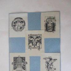 Arte: CINCO EXLIBRIS ORIGINALES. Lote 287734163