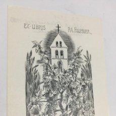 Arte: EX-LIBRIS EXLIBRIS ALBERT DÉCARIS, 1969. VID UVAS IGLESIA. Lote 287855318
