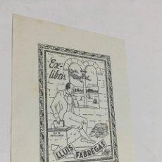 Arte: EX-LIBRIS EXLIBRIS M. FIGUEROLA, OPUS 16, 1947. JOVELLANOS ARCO MAR. Lote 287928843