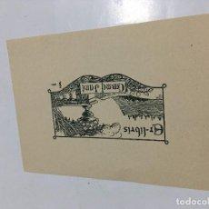 Arte: EX-LIBRIS EXLIBRIS PERE NOGUERAS, 1924. JARDÍN ROSA. Lote 287930478