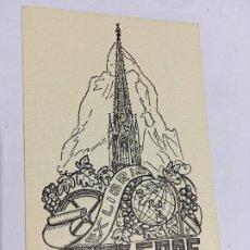Arte: REIMPRESIÓN EX-LIBRIS EXLIBRIS PARA FRITZ GRAF. MONTAÑA TORRE UVAS GLOBO. Lote 287931913