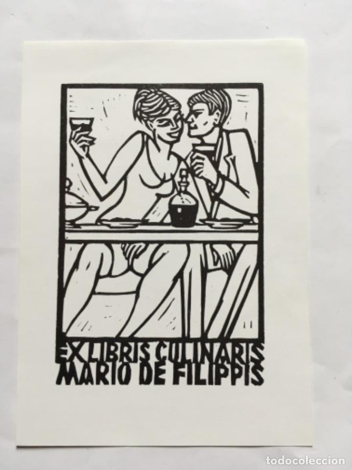 EX-LIBRIS EXLIBRIS COSTANTINI. PAREJA COMIDA VINO ERÓTICO (Arte - Ex Libris)