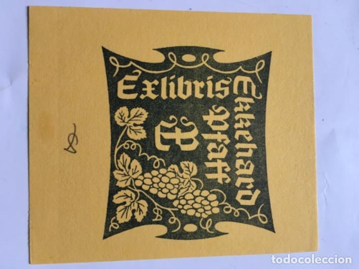 EX-LIBRIS EXLIBRIS AULITZKY, 1981. UVAS (Arte - Ex Libris)