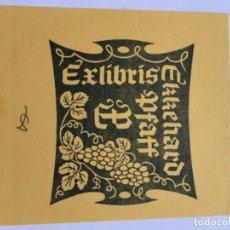 Arte: EX-LIBRIS EXLIBRIS AULITZKY, 1981. UVAS. Lote 288438468