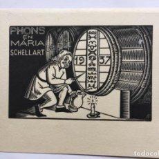 Arte: P. F. 1937 JEAN CHIEZE. BODEGA TONEL VINO. Lote 288438843