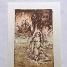 Arte: EX-LIBRIS EXLIBRIS BOHUMIL KRATKY, 1978. DESNUDO MAR GALEÓN ZEUS RAYO. Lote 288439408