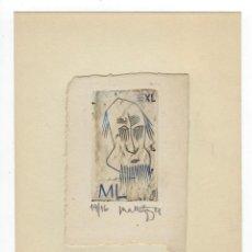 Arte: EX LIBRIS DE MART LEPP FIRMADO Y NUMERADO. Lote 289442593