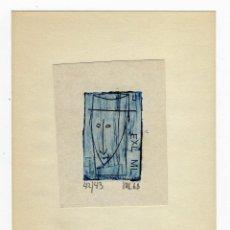 Arte: EX LIBRIS DE MART LEPP FIRMADO Y NUMERADO. Lote 289442748
