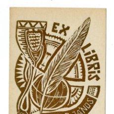 Arte: EX LIBRIS DE TAVASZY NOÉMI PARA DR. WERKNER JÁNOS. Lote 289448593