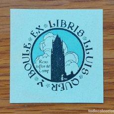 Arte: REUS EX-LIBRIS LLUIS QUER Y BOULE 1906. Lote 289735618