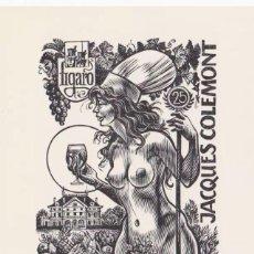 Arte: EX-LIBRIS EXLIBRIS FRANK IVO VAN DAMME, OPUS 393. DESNUDO UVAS VINO FIGARO. Lote 294082808