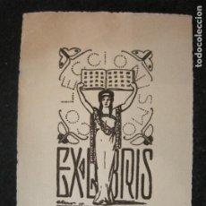 Arte: EX LIBRIS-VICENTE MARTINEZ BOSCH-COLECCIONISMO-VER FOTOS-(K-4428). Lote 295359758
