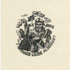 Arte: EX-LIBRIS EXLIBRIS ORIOL MARIA DIVÍ, OPUS 290, 1988. OBISPO COLMENA ABEJA. Lote 295770153