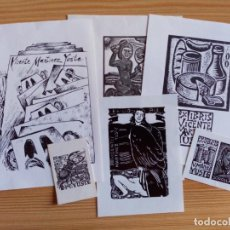 Arte: LOTE DE 6 EXLIBRIS VICENTE MARTINEZ YUSTE. Lote 295831888