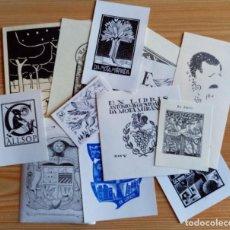 Arte: LOTE DE 12 EXLIBRIS VARIOS. Lote 295836408
