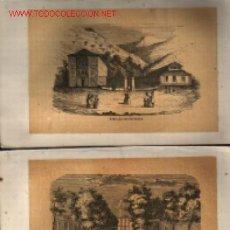 Arte: PAREJA GRABADOS A LA MADERA .. XEROGRAFÍA 1860+/- .. BAÑOS DE CESTONA Y BAÑOS DE ARECHAVALETA. Lote 17011369