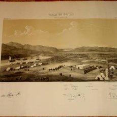 Arte: ANTIGUO GRABADO DE EL VALLE DE TETUAN EL 1 DE FEBRERO DE 1860. Lote 25233046