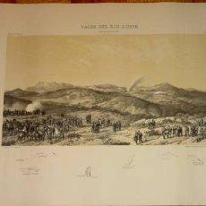 Arte: ANTIGUO GRABADO DE EL VALLE DE EL RIO ASMIR EL 10 DE ENERO DE 1860. Lote 24970780