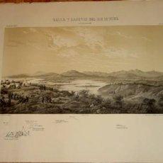 Arte: ANTIGUO GRABADO DE EL VALLE Y LAGUNAS DEL RIO M`NUEL EL 5 DE ENERO DE 1860. Lote 25211234