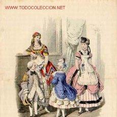 Arte: GRABADO DE 1869 - MODA. MEDIDAS 36,5 X 27,5 CMS. Lote 23452679