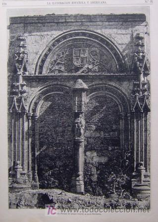 AVILA - PORTADA DEL ANTIGUO HOSPITAL DE SANTA ESCOLASTICA (Arte - Grabados - Modernos siglo XIX)
