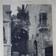 Art: BELLAS ARTES - EL RAPTO - CUADRO DE D. FRANCISCO PRADILLA, DIBUJO DEL MISMO.-. Lote 20562386