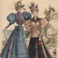 Arte: GRABADO : LA MODA ELEGANTE ILUSTRADA. 6 DE JUNIO DE 1896. Nº 21. Lote 20035945