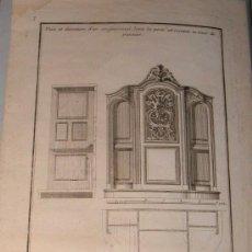 Arte: GRABADO CONFESIONARIO BARROCO CREPY LE FILS, PARÍS (1660 – 1730). Lote 19057869
