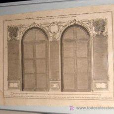 Arte: GRABADO DISEÑO DE UN LAMBRIS ESCUELA ALEMANA 1ER ¼ S. XVIII. Lote 22307515