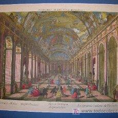 Arte: VUE D'OPTIQUE. LA GRANDE GALLERIE DE VERSAILLES. PALACIO DE VERSAILLES.. Lote 4242918