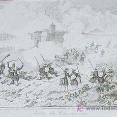 Arte: ANTIGUO GRABADO DE LA I GUERRA CARLISTA CARLISMO - ACCION DE LARRASOAÑA - REALIZADO POR MIRANDA Y G. Lote 10591149