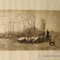 Arte: AGUAFUERTE ORIGINAL FIRMADO Y TITULADO. Lote 16629415