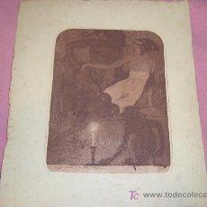 Arte: GRABADO DE LUIS GARCIA FALGAS 1916. Lote 27247615