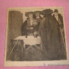 Arte: GRABADO LUIS GARCIA FALGAS 1913,ORIGINAL. Lote 27054962