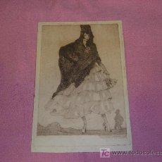 Arte: LUIS GARCIA FALGAS GRABADO 1916. Lote 27350699