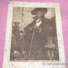 Arte: LUIS GARCIA FALGAS GRABADO 1916. Lote 26291633