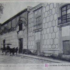 Arte: COYOACAN (MEJICO), CASA DEL ADELANTADO PEDRO DE ALVARADO, COMPAÑERO DE HERNAN CORTES.-. Lote 14646399