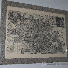 Arte: PLANO DE PEDRO TEXEIRA DEL ANTIGUO MADRID DE 1656, ENMARCADO Y CON CRISTAL. DE 108X82 CM.. Lote 24473142