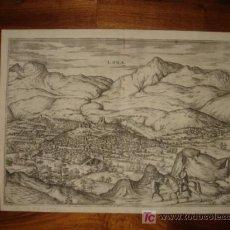 Arte: GRABADO DE LOJA,GRANADA, 1575, BRAUN Y HOGENBERG, SOBERBIO ESTADO, GRAN TAMAÑO. Lote 27462294