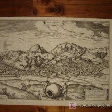 Arte: GRABADO DE ANTEQUERA, MALAGA, BRAUN Y HOGENBERG, ORIGINAL, 1575, COLONIA, SOBERBIO ESTADO. Lote 27462293