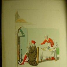 Arte: 1056 PRECIOSO GRABADO COLOREADO COSTUMBRISTA CIRCA AÑO 1840 - COSAS&CURIOSAS. Lote 9762682