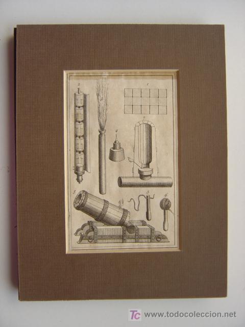 7 PRECIOSOS GRABADOS DE PIROTECNIA - AÑOS 1780 (Arte - Grabados - Antiguos hasta el siglo XVIII)